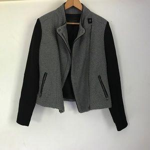 Banana Republic Gray and Black Moto Jacket